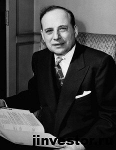 In this image provided by the New York Guild for the Jewish Blind, Benjamin Graham on May 29, 1951, newly elected president of the New York Guild for the Jewish Blind. (AP Photo/New York Guild for the Jewish Blind)